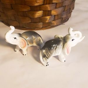 Vintage Pair of Bone China Elephants